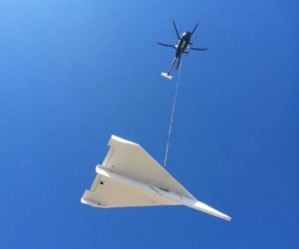 45-Foot-Long Paper Airplane Needed a Helicopter to be Launched