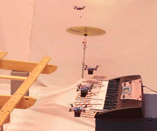 Quadrotors Play the James Bond Theme Song