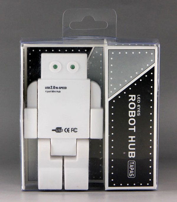 robot usb hub in box
