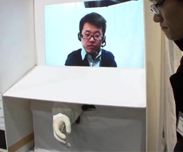 Japanese Develop Remote Hand-Shaking Robot