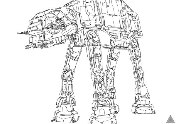 Star Wars Continuous Line Drawings The Pen Is Mightier