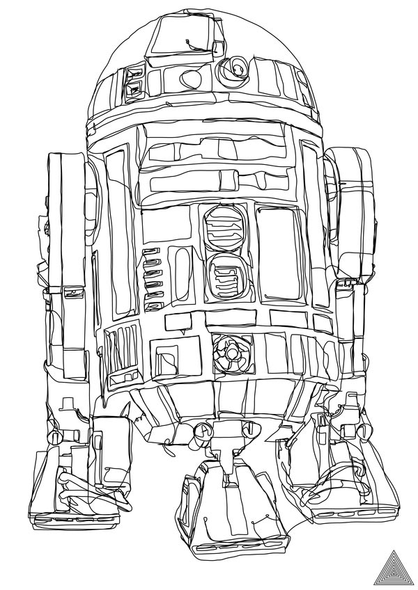 sam hallows continuous star wars line r2 d2