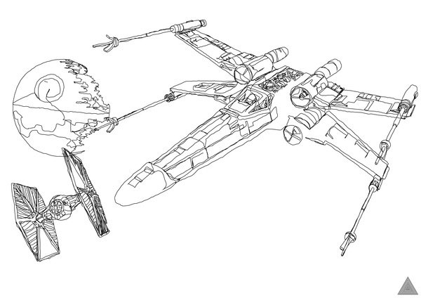 sam hallows continuous star wars line x wing