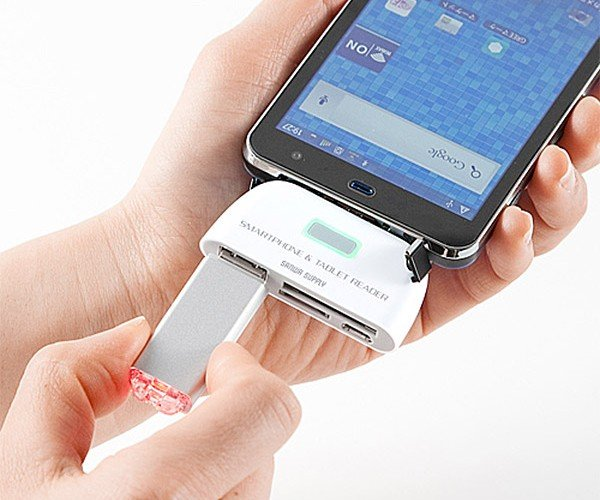Sanwa USB Reader Copies Memory Cards and More to Your Android Gadgets