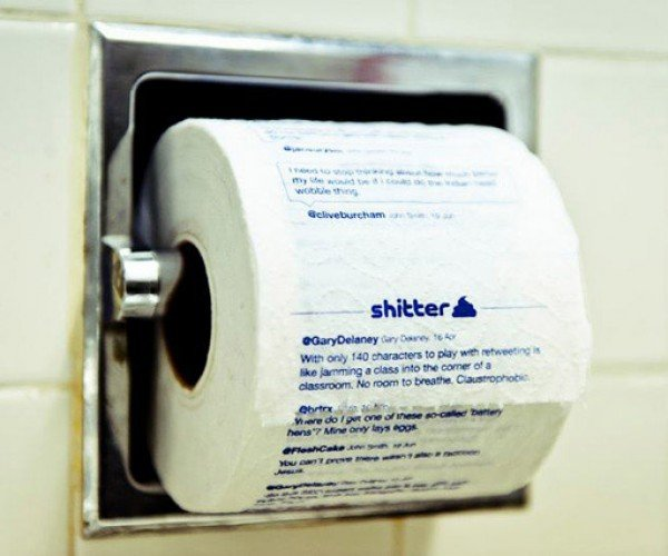 Shitter: Put Your Twitter Feed onto Toilet Paper