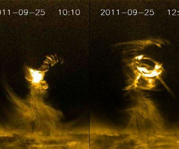 NASA Captures Gigantic Solar Tornado on Video
