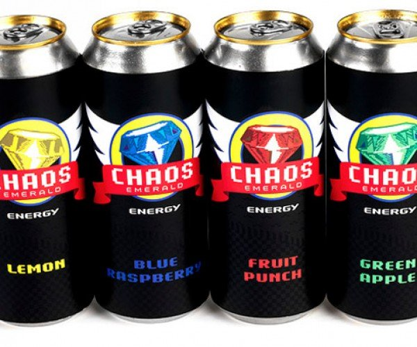 Sonic the Hedgehog Energy Drinks Packed With Vitamins, Chaos Emeralds