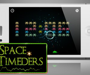 Space Timeders iOS Clock App and Game: Shoot Some Aliens in Bed