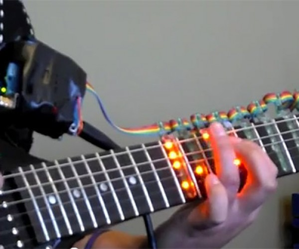 Tabber LED Light Sleeve Helps You Learn to Play with a Real Guitar