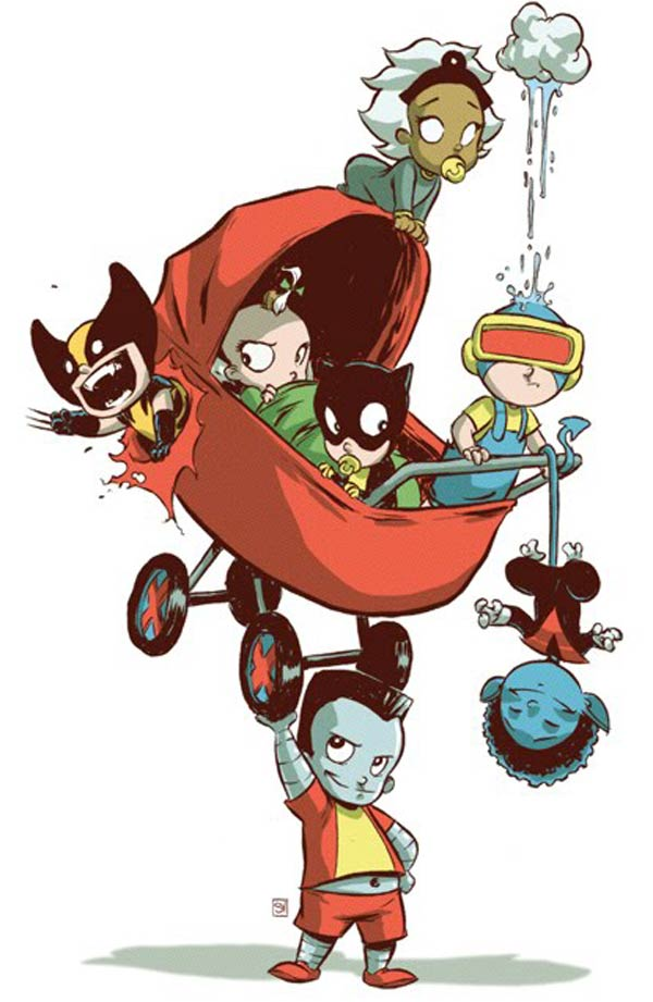 x-babies x-men skottie young