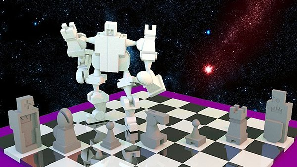 3d printed robot chess set