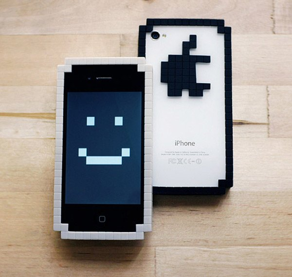 8 bit bumper big pixel iphone case two