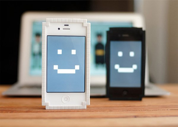 8 bit bumper big pixel iphone case