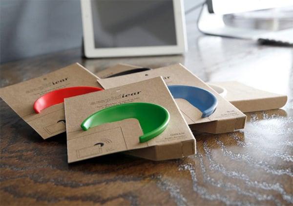 Amplifiear acoustic ipad speaker front kickstarter