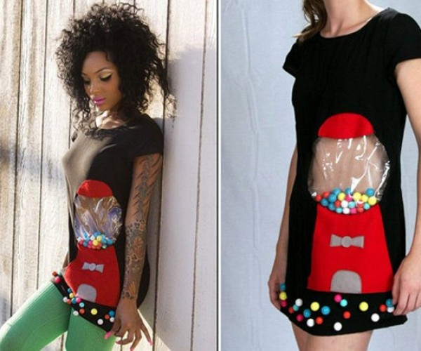 Gumball Machine Dress Lets You Walk And Dispense Gum at the Same Time