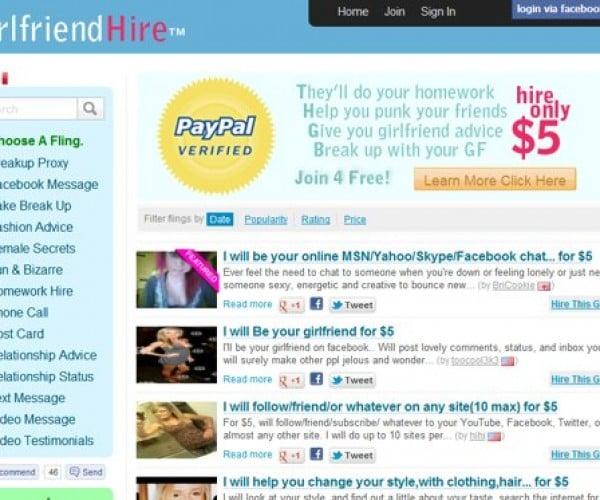GirlfriendHire.com: Where Virtual Girlfriends Do Your Bidding