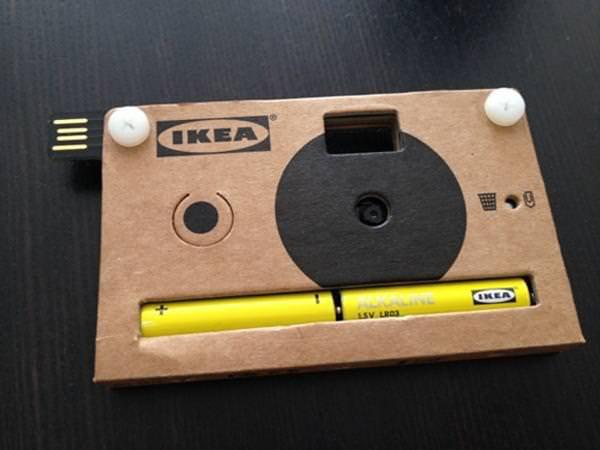 ikea mini camera cardboard disposable usb press kit