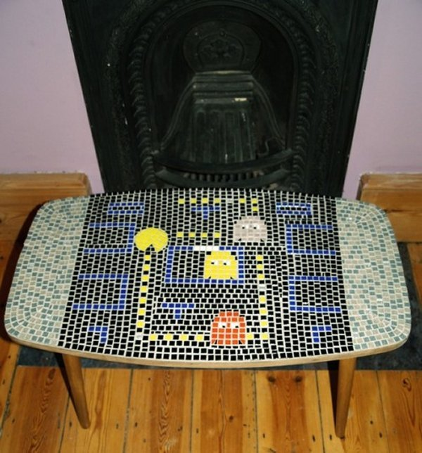 Pac Man Mosaic table