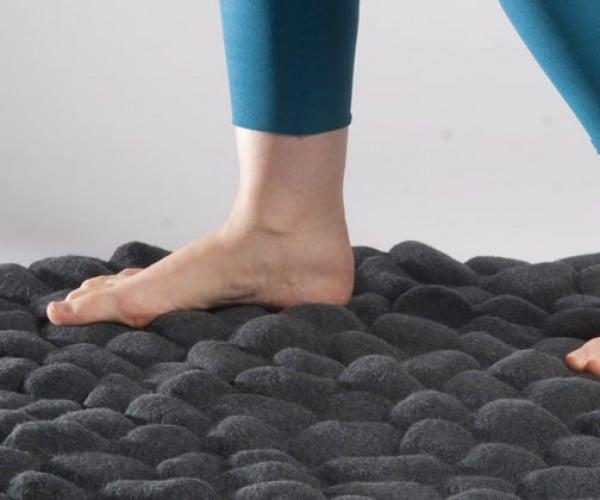 Pebbles Carpet Lets You Walk on Rocks in Comfort