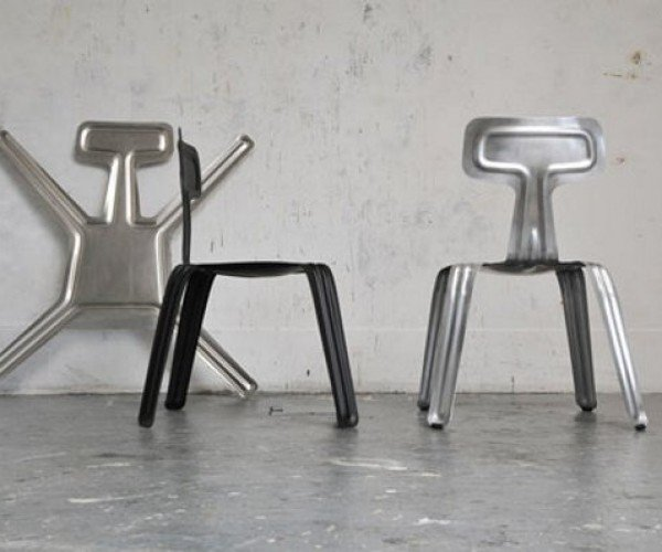 Pressed Chair: Flatten and Fold Out Your Own Paper-Thin Aluminum Seats