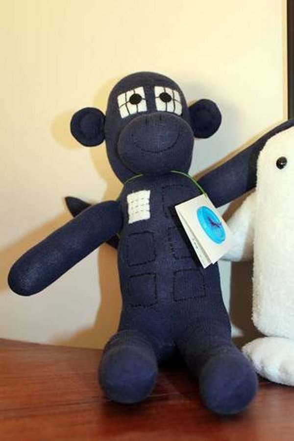 Tardis Sock Monkey