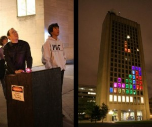 MIT Students Play Tetris on a Building