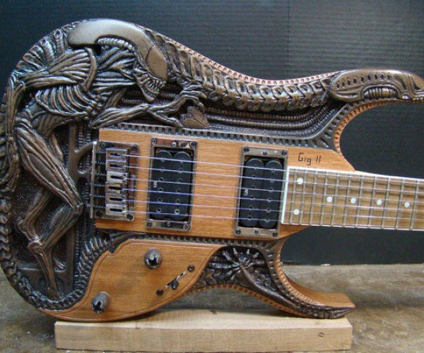 Alien Electric Guitar: In Space No One Can Hear You Rock