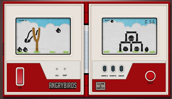 angry birds game n watch by giorgo cantu