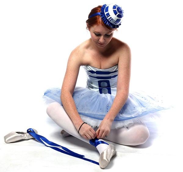 artoo tutu leeloo r2-d2 star wars droid ballerina