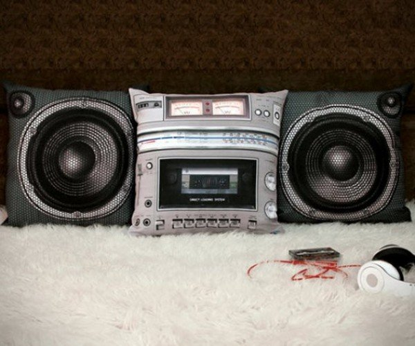 Boombox Pillow Set, for Dropping Your Head, Not Beats