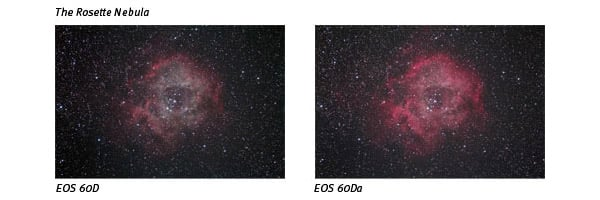 canon eos 60Da space photo