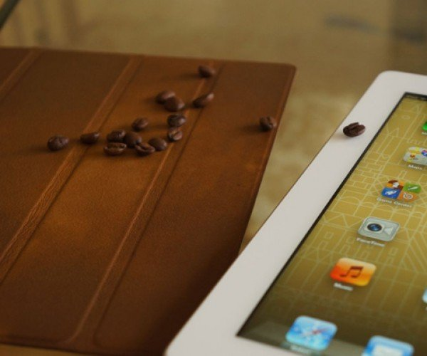 Coffee-Stained Apple Smart Cover: The Best Part of Waking Up (Your iPad)