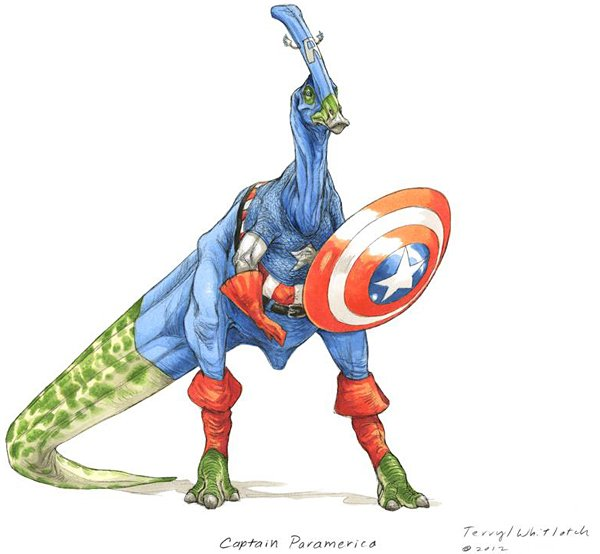 dino avengers by Teryll Whitlatch 2