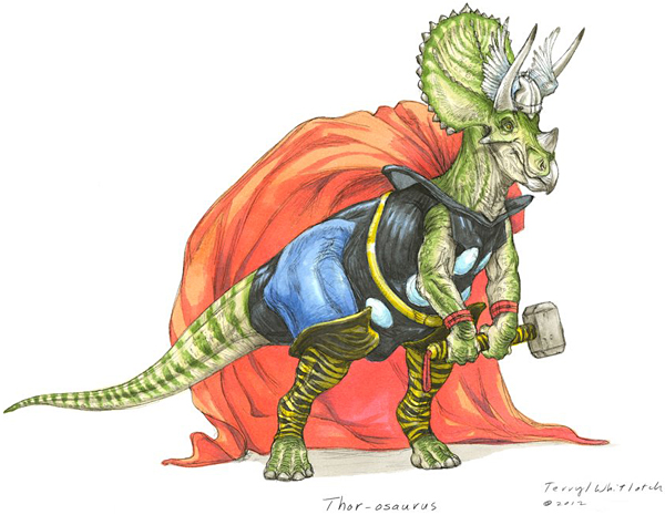 dino avengers by Teryll Whitlatch 3
