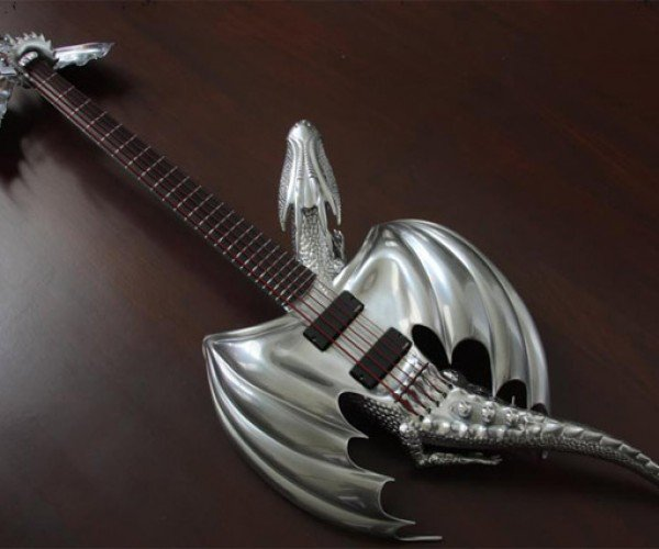 Custom Draco Electric Guitar Will Turn You into Ozzy Dragonborn
