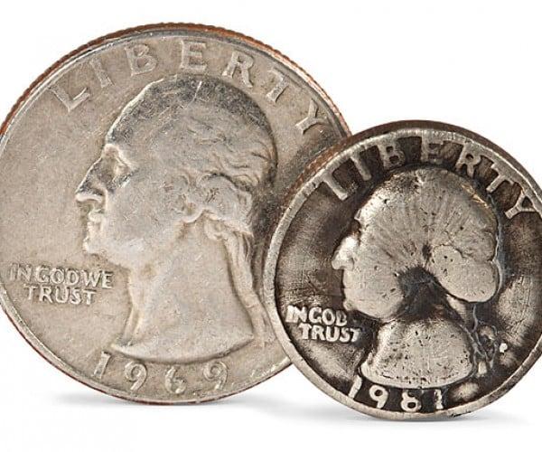Quarters Shrunken Down to Size Through Electromagnetism