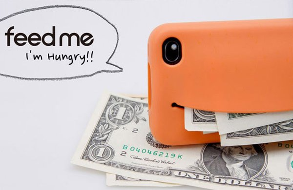 feed me iphone case money