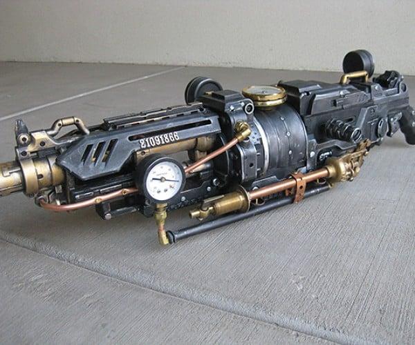 goliathon steampunk nerf gun by steampunk 101