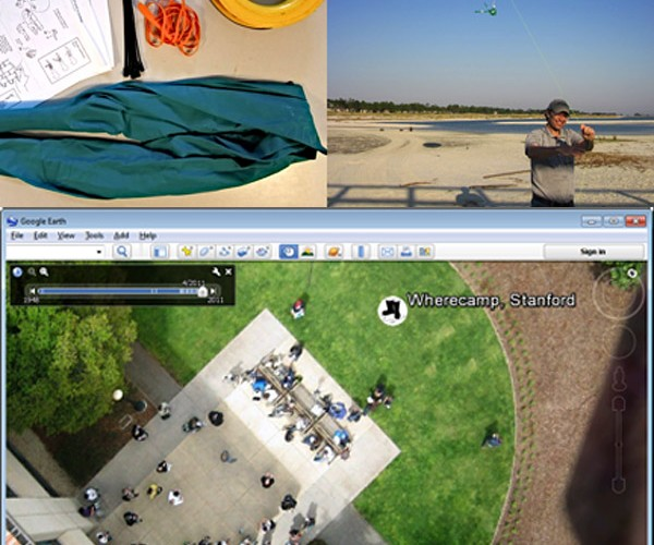 Google Earth Using Homemade Images from Balloons and Kites