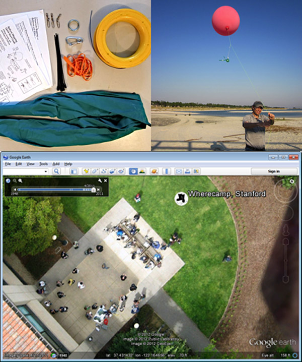 google earth baloons