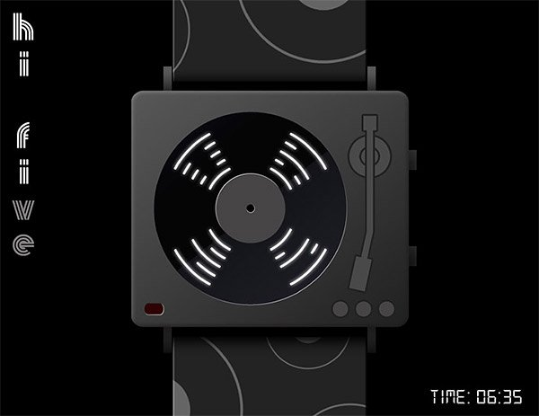hi five turntable watch concept