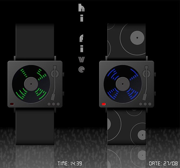hi five turntable watch concept 1