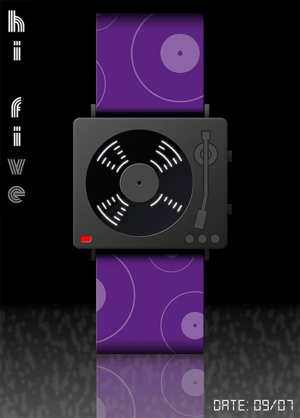 hi five turntable watch concept 2
