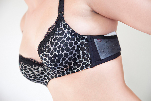 joey bra pocket holster iphone credit card cell phone cash