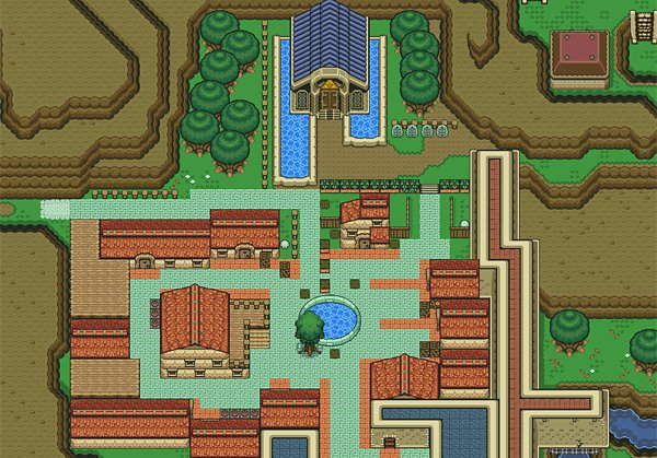 legend of zelda ocarina of time 2d snes map by majora 2