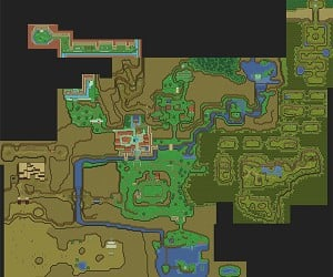 Legend of Zelda Ocarina of Time 16-bit Map: A Link to the SNES