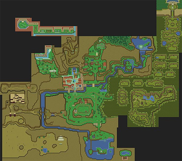 legend of zelda ocarina of time 2d snes map by majora
