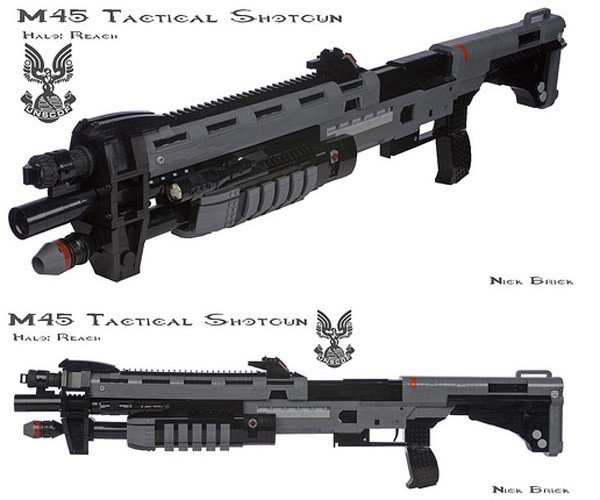 LEGO M45 Tactical Shotgun from Halo Reach Has Working Pump-Action