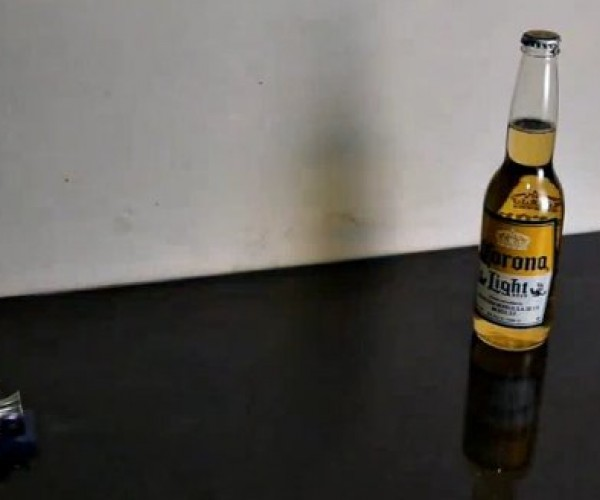 Mini Cannon Opens a Bottle of Beer with a Boom