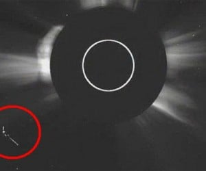 Did NASA Photograph a UFO near the Sun?